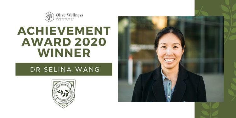 Inaugural Achievement Award Winner – Congratulations Dr Selina Wang