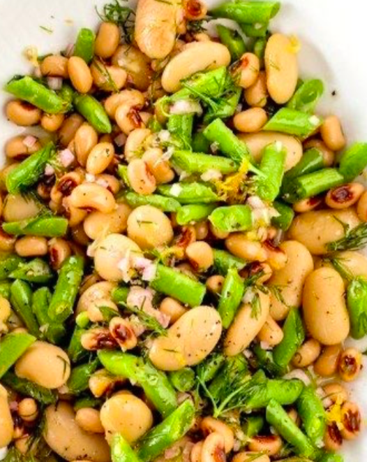 Asparagus, Cannellini Beans, And Bread Salad