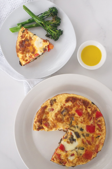 Oven-Baked Frittata with Crispy Broccoli
